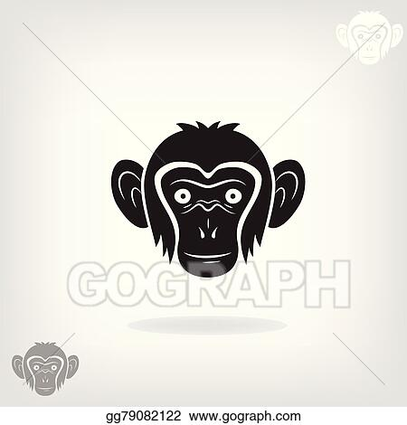 df8e07070 EPS Vector - Stylized head of a monkey. . Stock Clipart Illustration ...