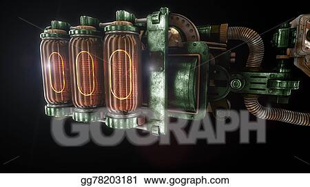 Clipart - Stylized steam punk rust mechanism   Stock