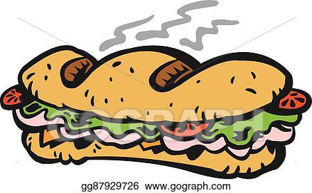 vector art sub sandwich clipart drawing gg87929726 gograph rh gograph com sub sandwich clipart black and white sub sandwich vector clipart
