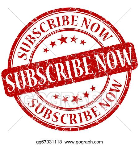 Subscribe red. Stock illustration now grunge