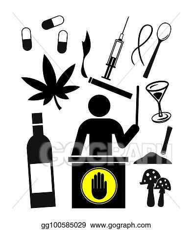 Stock Illustration - Substance abuse education  Clip Art