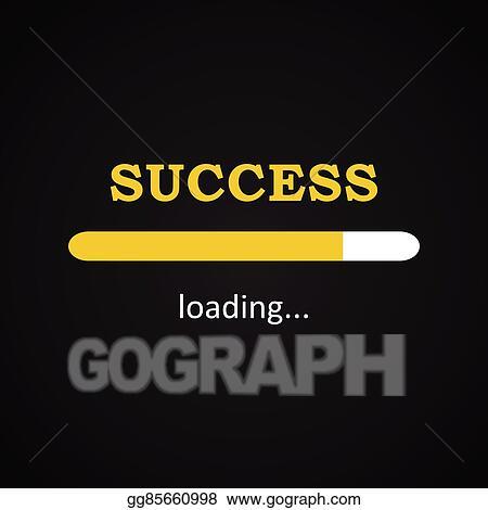 Vector Stock Success Loading Funny Inscription Clipart Illustration Gg85660998 Gograph