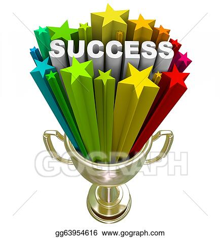 drawing success trophy a winning accomplishment clipart drawing
