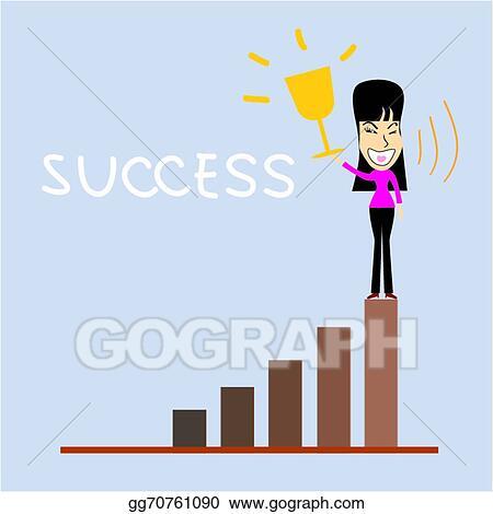 clip art vector successful business woman cartoon stock eps gg70761090 gograph successful business woman cartoon