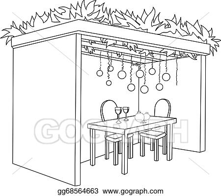 Vector Art - Sukkah for sukkot with table coloring page ...