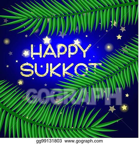 Eps vector sukkot festival greeting card stock clipart sukkot festival greeting card m4hsunfo