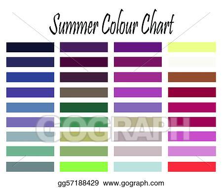 Stock Illustrations Summer Colour Chart Stock Clipart Gg57188429