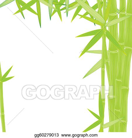 Vector Illustration - Summer green bamboo frame. EPS Clipart ...