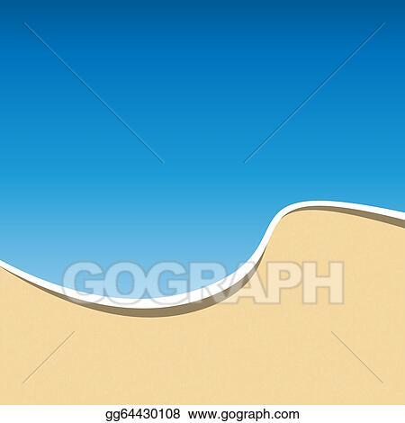 Sea Beach Background Vector
