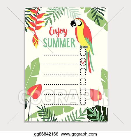 Eps vector summer jungle greeting card invitation wish list summer jungle greeting card invitation wish list stopboris Choice Image