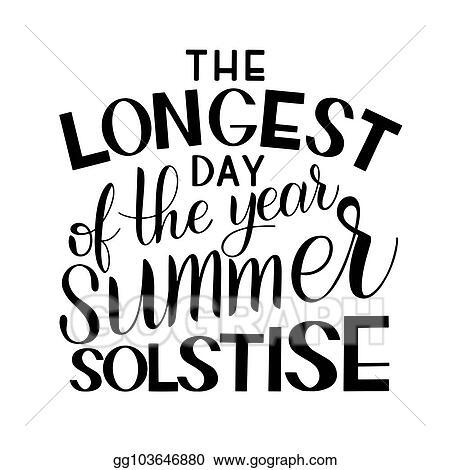 vector illustration summer solstice lettering stock clip art rh gograph com Summer Clip Art summer solstice clipart in black and white