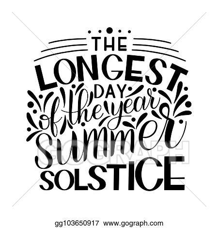 vector illustration summer solstice lettering stock clip art rh gograph com summer solstice 2017 clipart Summer Clip Art