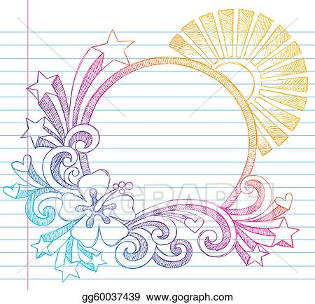 Vector Art - Summer vacation hibiscus frame. Clipart Drawing ...