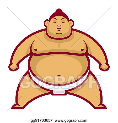 vector stock sumo wrestler in rack stock clip art gg91763657 rh gograph com Hawaii Clip Art Sumo Cartoon
