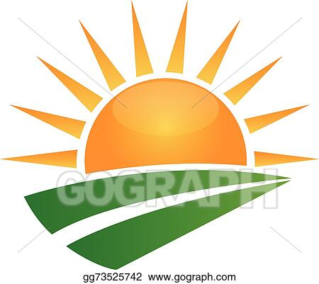 vector clipart sun and green road logo vector illustration rh gograph com sun valley logo vectoriel sun chemical logo vector