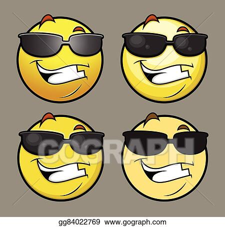 508d5e7d8a08 EPS Illustration - Sun glasses emoji emoticon vectors. Vector ...