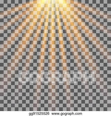 Sun Rays On Transparent Background Sunlight Vector Illustration