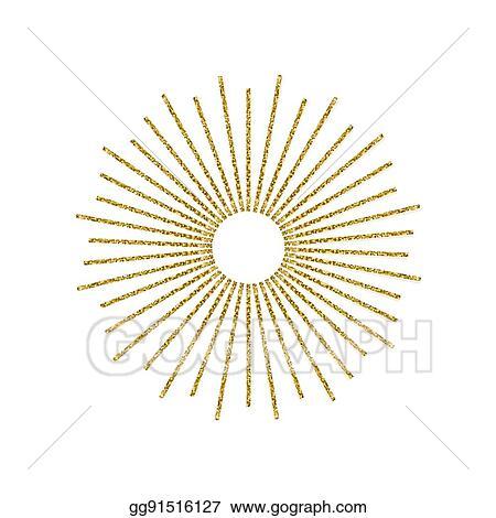 vector stock sunburst gold glitter effect isolated on white