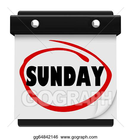 Sunday Word Wall Calendar Remember Weekend Day