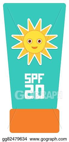 Vector Illustration Suntan Lotion Sun Cream Container