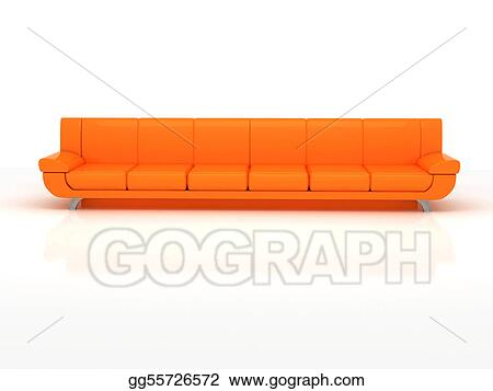 Drawing Super Wide Sofa Clipart Drawing Gg55726572 Gograph
