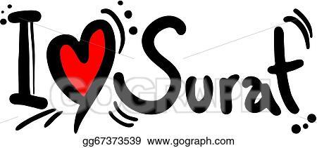 Eps Illustration Surat Love Vector Clipart Gg67373539