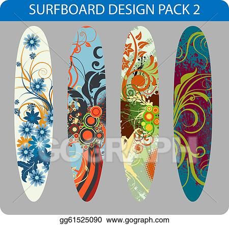 Vector Illustration Surfboard Design Pack Eps Clipart Gg61525090