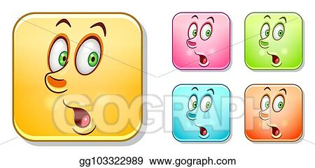 Vector Clipart - Surpised emoticons collection  Vector