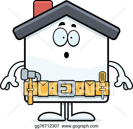 vector stock surprised cartoon home improvement clipart rh gograph com Home Building Improvement Clip Art Home Building Improvement Clip Art
