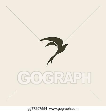 vector illustration swallow bird abstract vector logo design template stock clip art gg77297554 gograph https www gograph com clipart license summary gg77297554