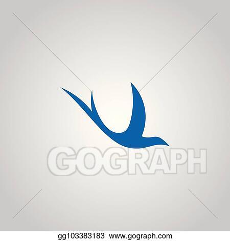 vector illustration swallow logo design eps clipart gg103383183 gograph swallow logo design eps clipart
