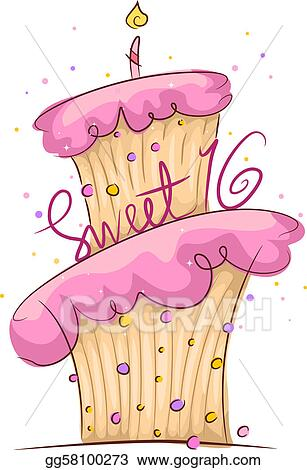 drawing sweet 16 clipart drawing gg58100273 gograph rh gograph com Tiara Clip Art 16 Clip Art