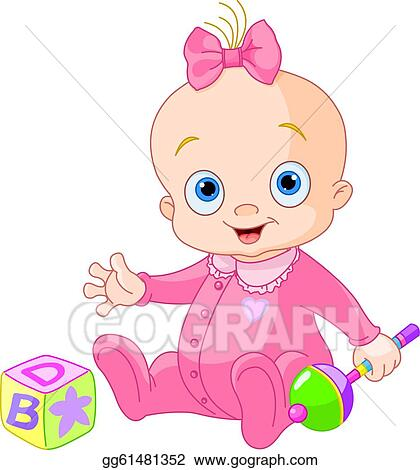 baby girl clip art royalty free gograph rh gograph com clipart baby girl dress clip art baby girl congratulations