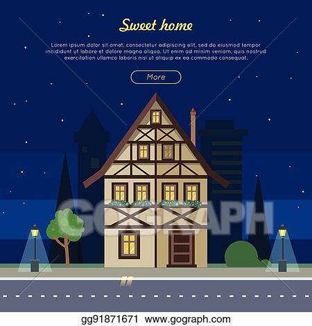 Sweet Home Flat Vector Web Banner