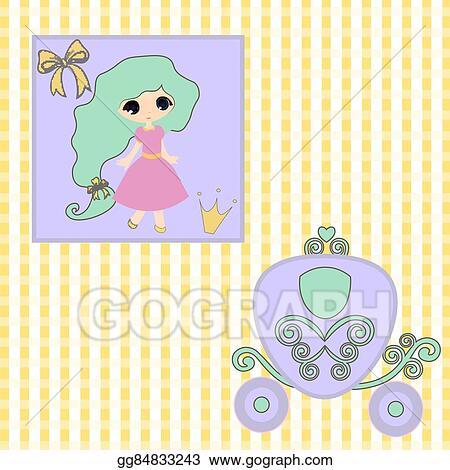 vector art sweet little princess announcement baby shower