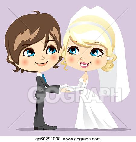 Eps Illustration Sweet Wedding Day Vector Clipart Gg60291038 Gograph