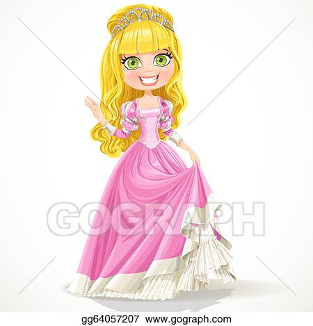 Princess Ball Gown in Pink Clip Art