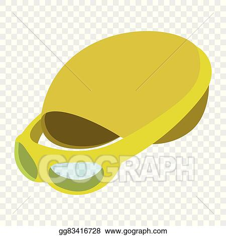 Vector Art - Swimming cap and goggles illustration. cartoon symbols on transparent background. EPS clipart gg83416728
