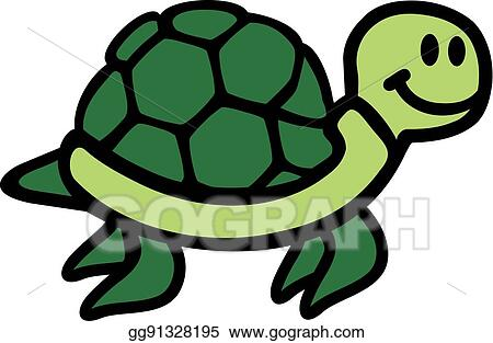 Vector Clipart Swimming Cartoon Turtle Cute Vector Illustration Gg91328195 Gograph