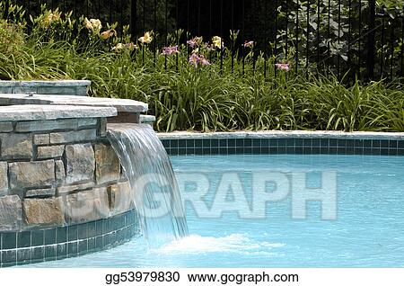 Stock Photos - Swimming pool waterfall. Stock Images ...