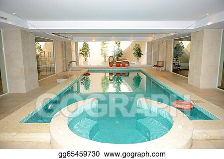 Stock Photography Swimming Pool With Jacuzzi In Spa At The Luxury