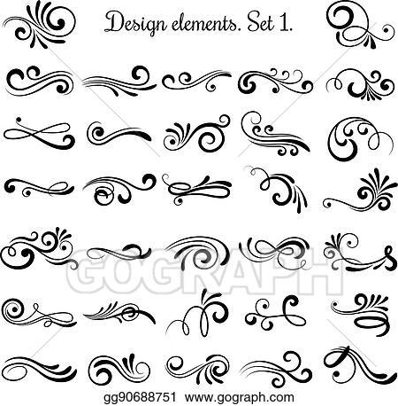 Vector Vintage Stil Elemente Vintage Handschriftliche 6