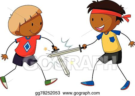 Vector Art - Sword fight  Clipart Drawing gg78252053 - GoGraph