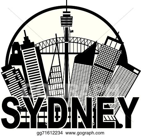 Vector art sydney australia skyline circle black and white sydney australia skyline circle black and white illustration altavistaventures Choice Image