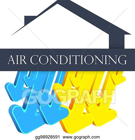 Vector Stock Symbol For Home Air Conditioner Clipart Illustration