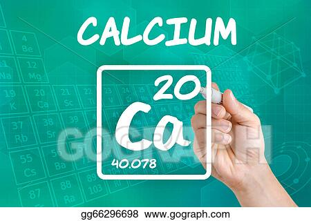 Stock Illustration Symbol For The Chemical Element Calcium