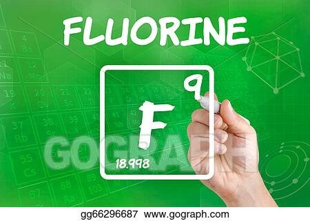 Stock Illustration Symbol For The Chemical Element Fluorine