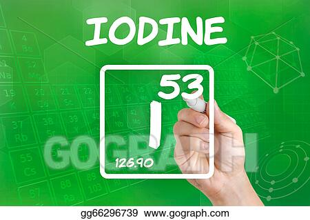 Stock Illustration Symbol For The Chemical Element Iodine Clipart