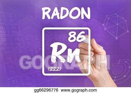 Clipart Symbol For The Chemical Element Radon Stock Illustration