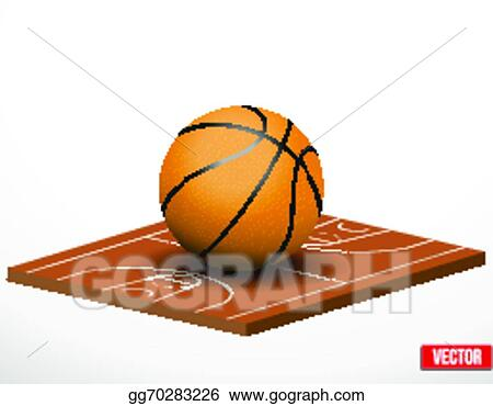 Vector Stock Symbol Of A Basketball Game And Field Clipart